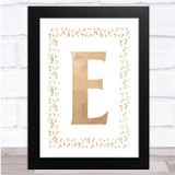 Music Notes Rustic Any Initial Personalised Wall Art Print