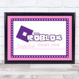 Roblox Purple Logo City Line Art Any Name Personalised Wall Art Print