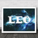 Space Background Landscape Any Name Personalised Wall Art Print