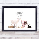 Farm Animals Landscape Any Name Personalised Wall Art Print