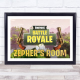 Fortnite Battle Royale Guns Any Name Personalised Wall Art Print