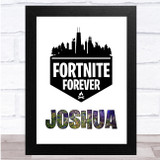 Fortnite Forever City Silhouette Any Name Personalised Wall Art Print
