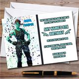 Splatter Art Gaming Fortnite Ghoul Trooper Children's Birthday Party Invitations