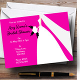 Pink Bride Customised Bridal Shower Party Invitations