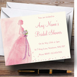 Pink Classic Bride Customised Bridal Shower Party Invitations