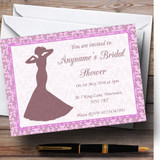 Pink Classic Vintage Customised Bridal Shower Party Invitations