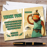 Fishstick Gaming Comic Style Fortnite Skin Birthday Party Thank You Cards