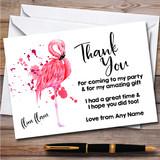 Flamingo You Tuber Flim Flam Splatter Art Birthday Party Thank You Cards