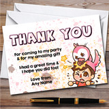 Flamingo Youtuber I Really Should Be Sleeping Birthday Party Thank You Cards