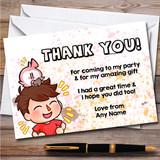 Flamingo Youtuber Still Chill Splatter Art Birthday Party Thank You Cards