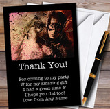 Flash Vintage Smudge Children's Kids Personalised Birthday Party Thank You Cards