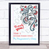 You're A No.1 Star Notebook Sketch Personalised Wall Art Print