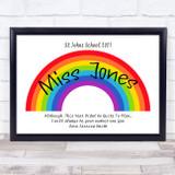 Rainbow Covid Poem School Teacher Personalised Wall Art Print