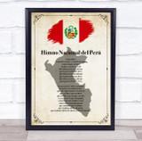 National Anthem Of Peru Border Country Wall Art Print