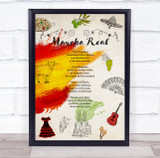 National Anthem Of Spain Vintage Theme Wall Art Print