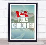 Beautiful Mountains 1 July Canada Day Wall Art Print