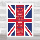United Kingdom National Anthem Flag Wall Art Print