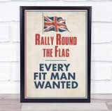 Rally Round The Flag Vintage Poster Wall Art Print