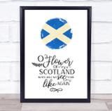 Scotland Watercolour Flag & Anthem Wall Art Print
