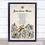 National Anthem Of India Patriotic Wall Art Print