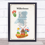National Anthem Of Holland Border Wall Art Print