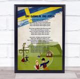 National Anthem Of Sweden Vintage Wall Art Print