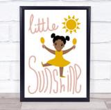 Little Miss Sunshine Yellow Dress Wall Art Print