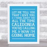 Caledonia Lyrics Funky Scotland Wall Art Print