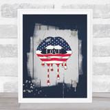 American Lips Paint Urban Love Wall Art Print