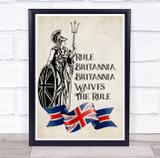 Rule Britannia Soldier Trident Wall Art Print