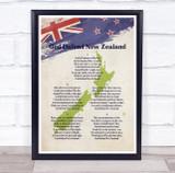 National Anthem Of New Zealand Wall Art Print