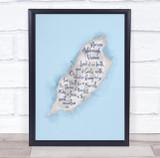 Isle Of Man Blue Watercolour Wall Art Print