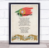 National Anthem Of Portugal Wall Art Print