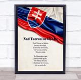 National Anthem Of Slovakia Wall Art Print