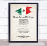 National Anthem Of Mexico Wall Art Print