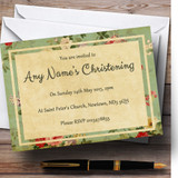Vintage Shabby Chic Postcard Style Christening Party Customised Invitations