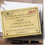 Vintage Telegram Typewritten Christening Party Customised Invitations