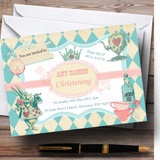 Alice In Wonderland Mad Hatters Tea Christening Party Customised Invitations