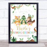 Baby Animals Welcome Naming Ceremony Personalised Event Party Decoration Sign
