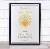 First Holly Communion Welcome Personalised Event Occasion Party Decoration Sign