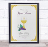 First Holly Communion Welcome Grapes Personalised Event Party Decoration Sign