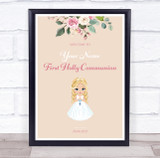 Girl First Holly Communion Personalised Event Occasion Party Decoration Sign