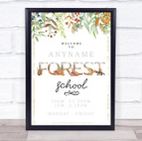 Forest School Outdoor Adventure & Trail Personalised Event Party Decoration Sign
