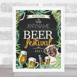 Beer Festival Chalk Beer & Pug Personalised Event Occasion Party Decoration Sign