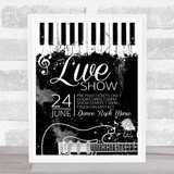 Live Music Band Show Grunge Personalised Event Occasion Party Decoration Sign