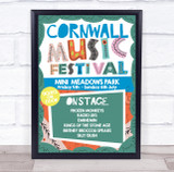 Live Music Festival Hippy Fun Local Personalised Event Party Decoration Sign