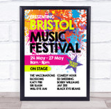 Live Music Festival Paint Splatter Music Acts Personalised Event Party Sign