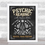 Psychic Tarot Crystal Reading Festival Chalk Personalised Event Party Sign