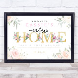 New Home Housewarming Gold & Rose Personalised Event Party Decoration Sign