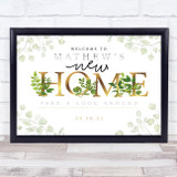 New Home Housewarming Gold & Vine Personalised Event Party Decoration Sign
